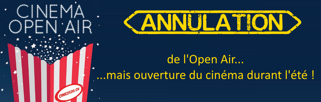 Annulation Open Air 2020