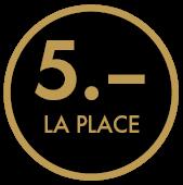5CHF la place
